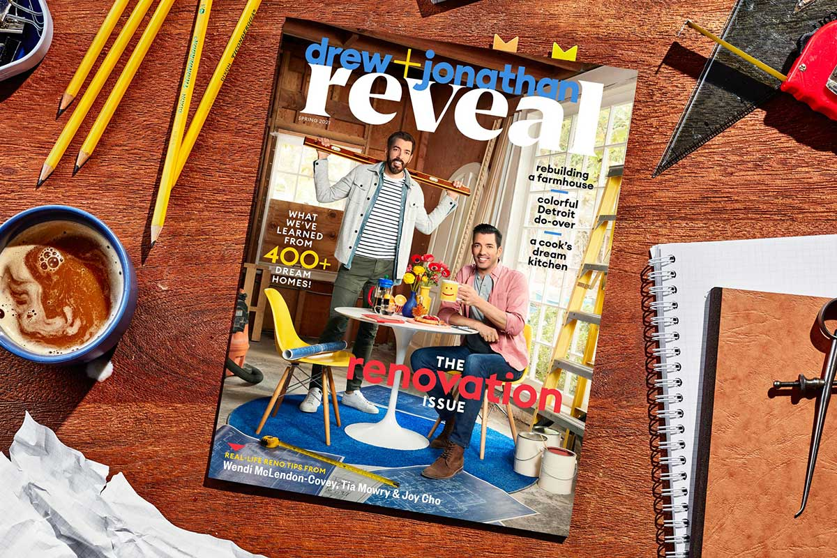 Drew + Jonathan Reveal Magazine Available Now